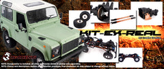 RC D90 Defender Scaler Kit 3Racing EX REAL 1/10 Chassis Set Only