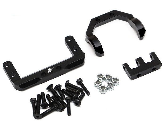 Axial SCX10 II AR44 Axle Mounted Servo Conversion Kit w/ 4-Link Truss Black