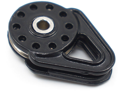 Heavy Duty Winch Snatch Block Black
