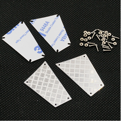 Traxxas TRX-4 Stainless Steel Rear Diamond Side Plate