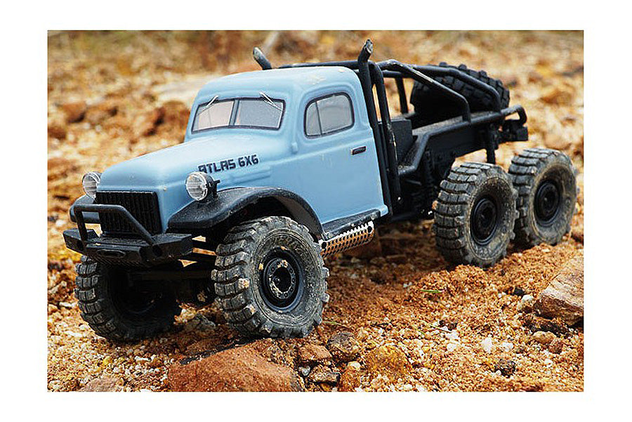 ROC Hobby 1/18 Atlas 6X6 RTR Scale Crawler (Blue)