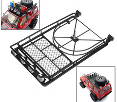SCX10 II Roof Rack With Spotlights (Steel)