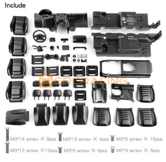 Traxxas TRX-4 Cockpit Interior Kit for TRX4 G500 & TRX6 G63 6×6 Black