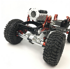 Axial SCX10 II 2 Speed Alloy Transmission With Scale V8 Engine