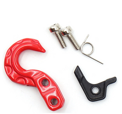 1/10 RC Rock Crawler Scale Spring Loaded Metal Hook Red