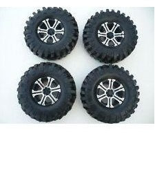 Alloy Crawler Wheel/Tyre Set Of 4, 1.9 Wheels