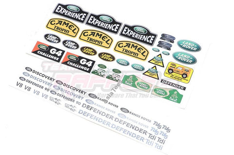 Land Rover Defender D90/110 Camel Water Transfer Decals B for RC4WD Gelande II D90/D110