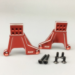 Traxxas TRX-4 Rear Shock Mounts (Red)