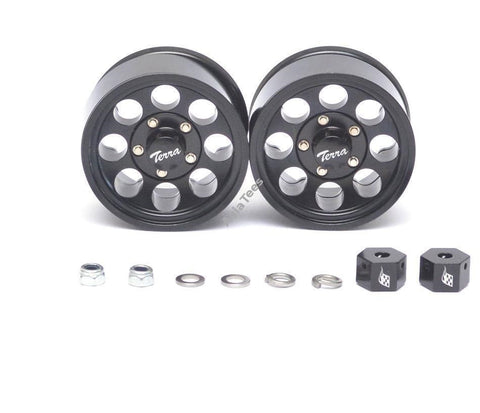 Classic 8-Hole Aluminum Beadlock Wheels w/ 3mm Wideners (2) Black