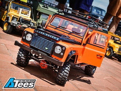Defender D110 Chassis Kit (Without Wheels Tires Shocks) w/ TRC Raffee Defender D110 Station Wagon Hard Body