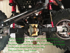 AR44 PHAT™ Axle Housings W/ ARMOUR™ Skid Plate 210grams Black, SCX10 II
