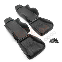 Hard Plastic Seats 2pcs For 1/10 Crawler (Red Or Black).