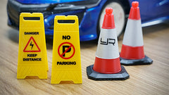 1/10 Scale Traffic Sign Accessory 6pcs