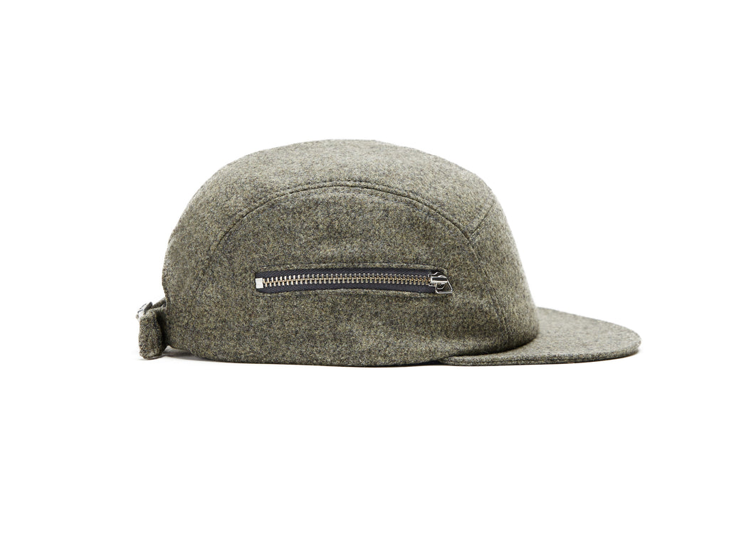Grey Merino Zip 5 Panel