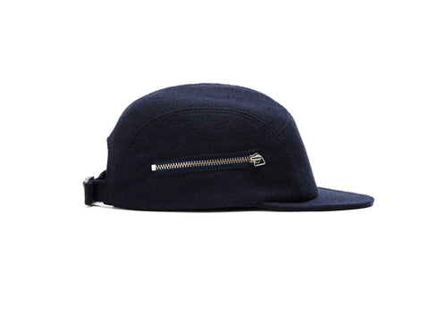 Navy Merino Zip 5 Panel
