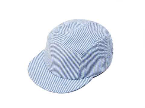 Blue Seersucker 5 Panel