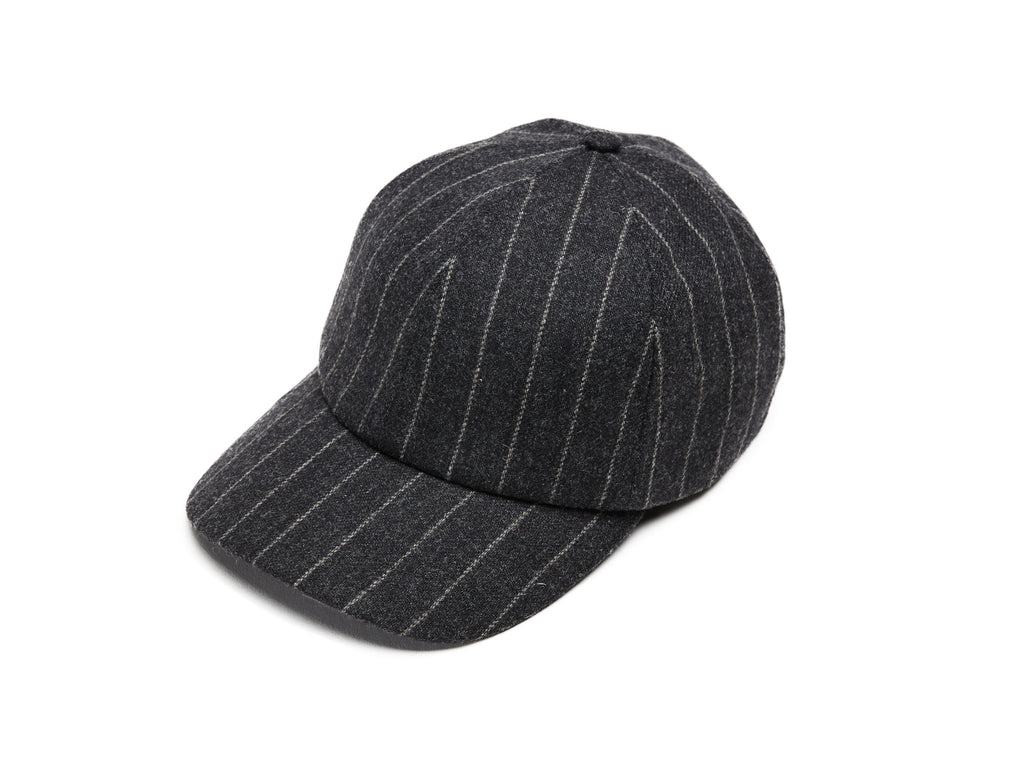 Grey Chalkstripes Merino Baseball