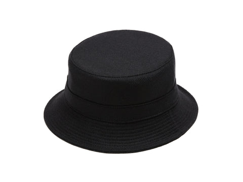 Larose Noir Zip Bucket Hat