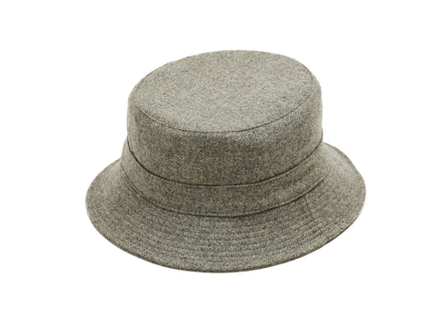 Grey Zip Bucket Hat