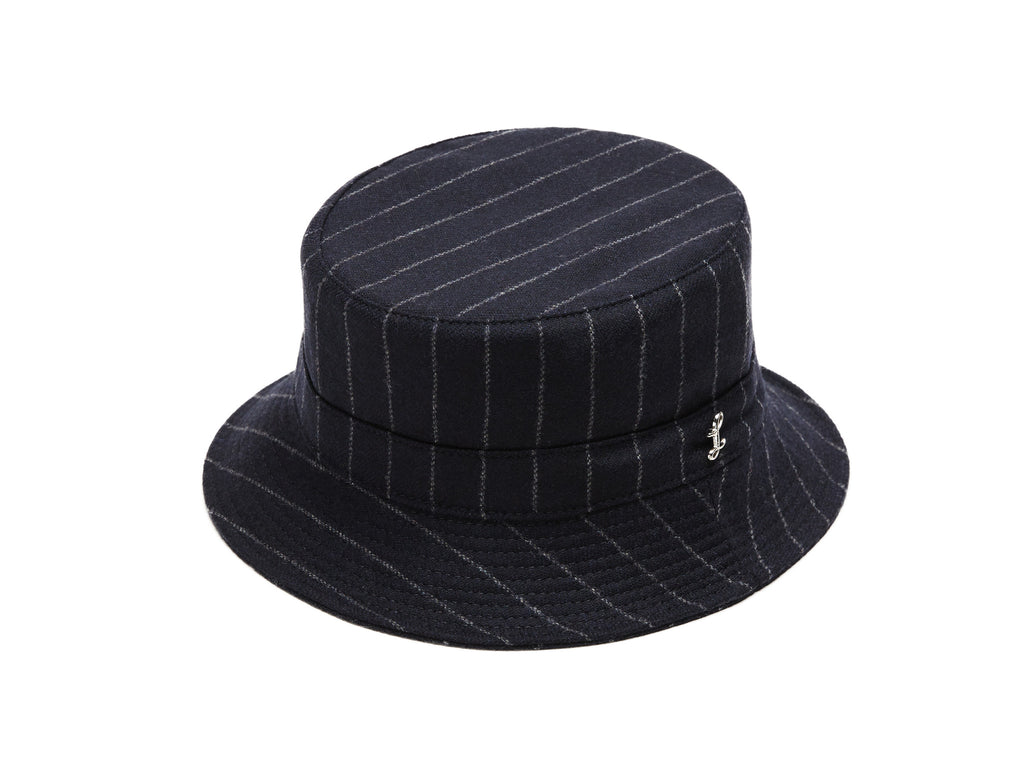 f46905bcc4e9b Navy Chalkstripes Bucket Hat – Larose Paris