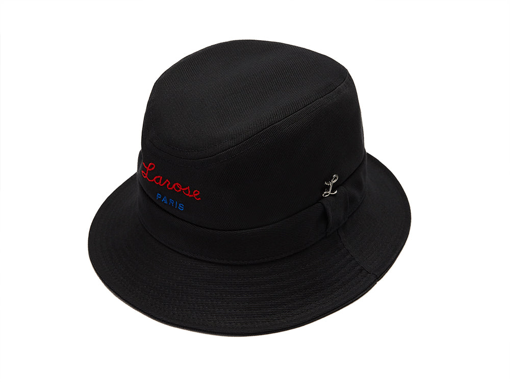 b9670d5f4cbd8 Logo Bucket Hat Black – Larose Paris