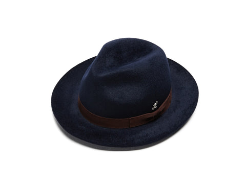 Navy Small Fedora