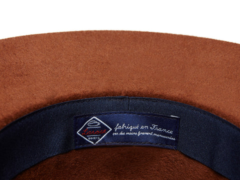 Brown Zip Fedora
