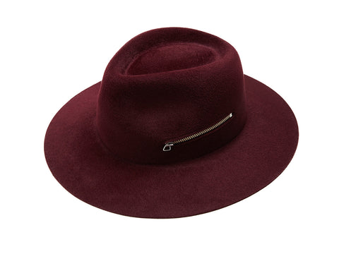 Burgundy Zip Fedora