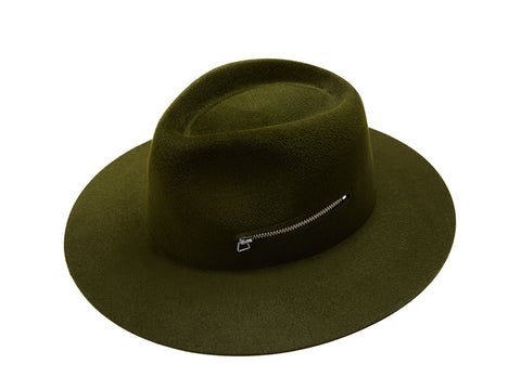 Green Zip Fedora