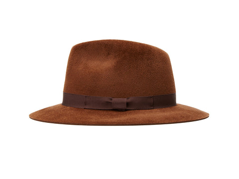 Brown Small Fedora