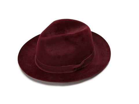 Burgundy Small Fedora