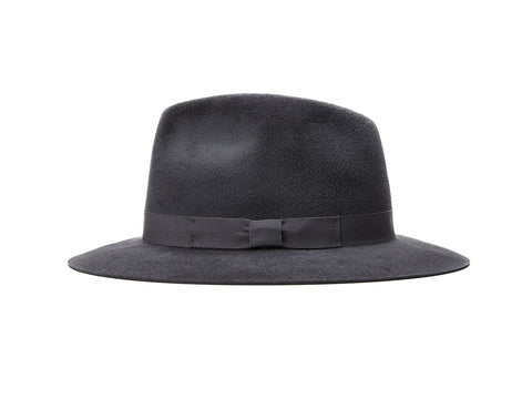 Charcoal Small Fedora