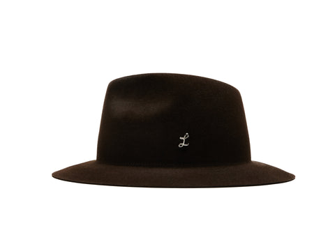 THE GIGI X LAROSE Brown Traveller Rollable hat