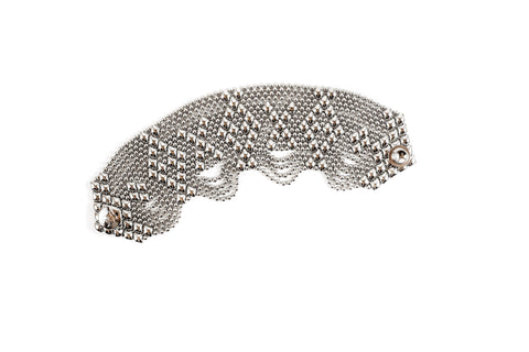 Liquid Metal Diamonds Bracelet