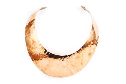 Hammered Copper Cuff Necklace