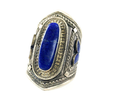 Tribal Lapis Cuff