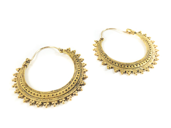 Hindi Brass Hoops