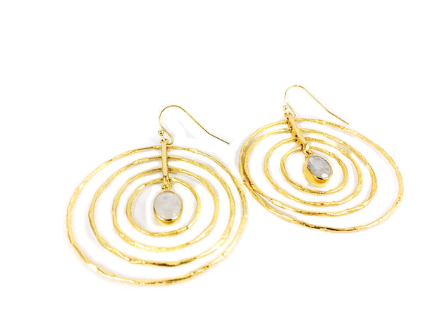 Concentric Circles Earring