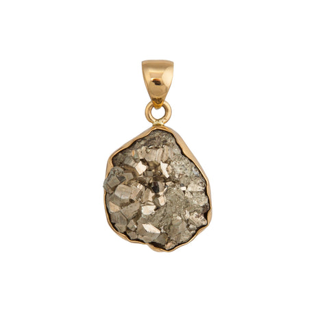 Raw Pyrite Pendant
