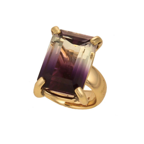 Bi-Color Amethyst Ring
