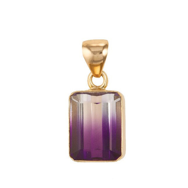 Bi-Color Amethyst Pendant