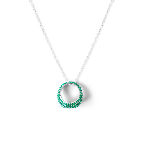 AMOURY Pave Ring Necklace