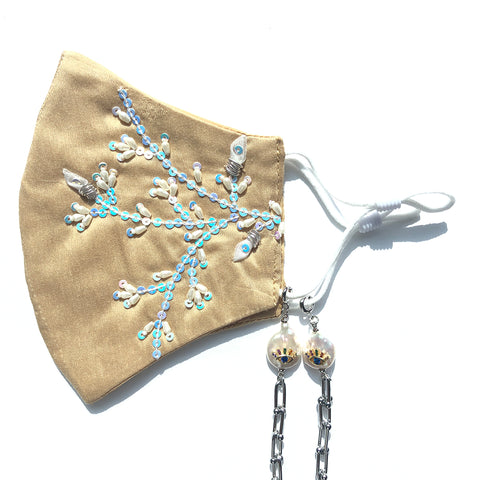 BEENA Beaded Branches Face Mask