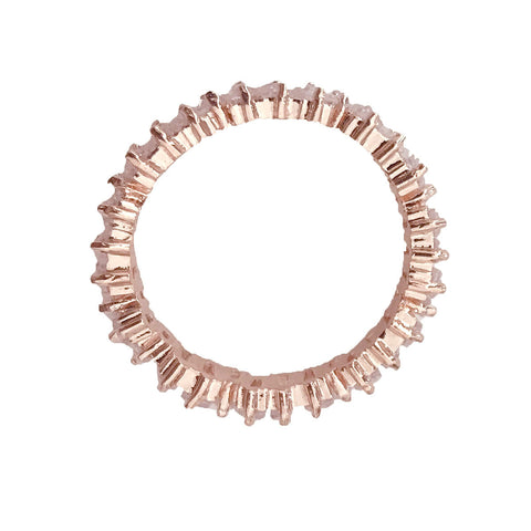 ESSIA BAGUETTE ROSE GOLD RING