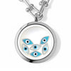MIRIAM Floating Evil Eye Charms Necklace