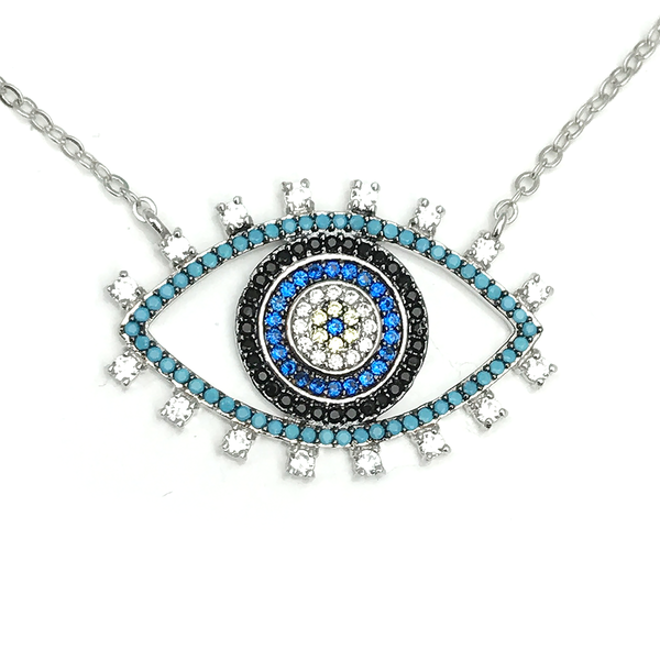 ZAHRA HERITAGE EVIL EYE GM NECKLACE