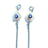 GULFEM Evil Eye Silver Face Mask Chain