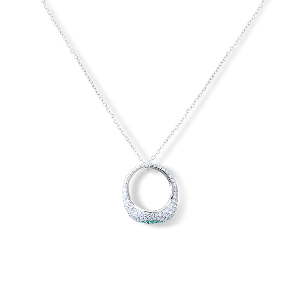 HALI Pave Eye Ring Necklace