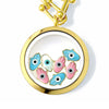 FATIMA Twins Floating Evil Eye Charms Necklace