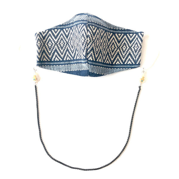 H'MONG Embroidered Denim Face Mask